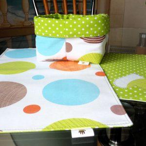 Подложки за сервиране - комплект в зелено