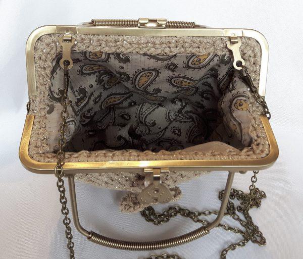 Бежова чанта с двойна дръжка
