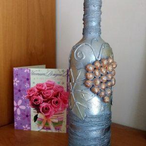 Арт шише за вино