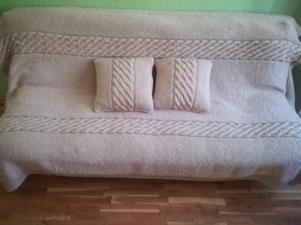 Комплект плетено одеяло с две възглавници /продадено/