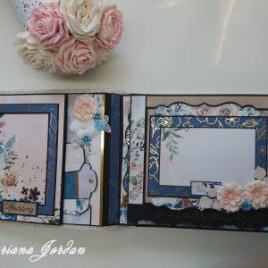 Сватбен албум в синьо и прасковено
