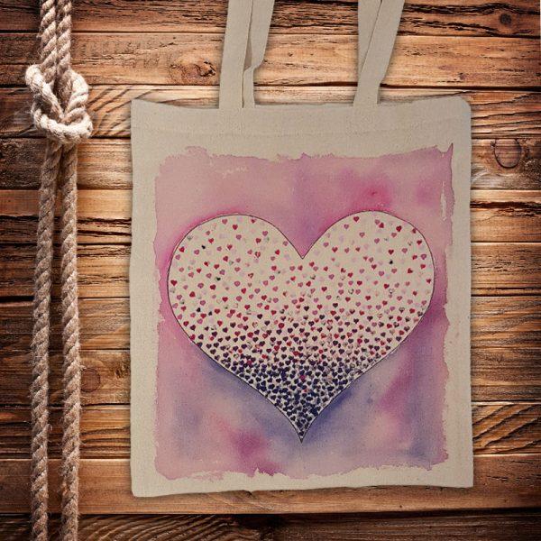 """Текстилна торбичка """"Сърце"""""""