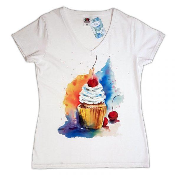 """Рисувана тениска """"Сладкиш"""""""