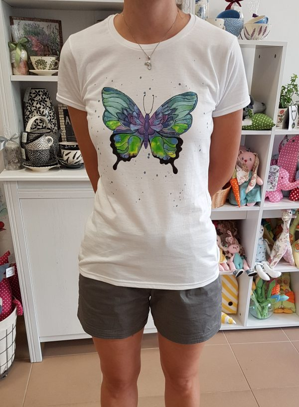 "Рисувана тениска ""Пеперуда"""