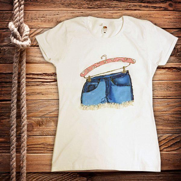 """Рисувана тениска """"Къси панталонки"""""""