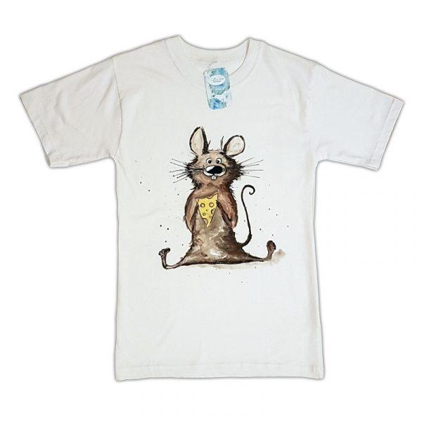 """Рисувана тениска """"Мишка"""""""