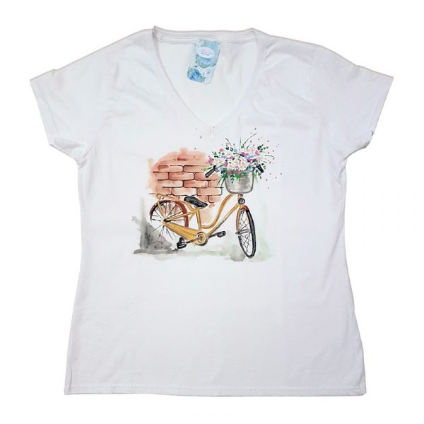 "Рисувана тениска ""Колело"""