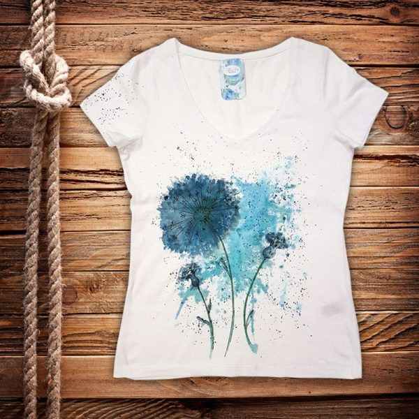 """Рисувана тениска """"Глухарчета"""""""