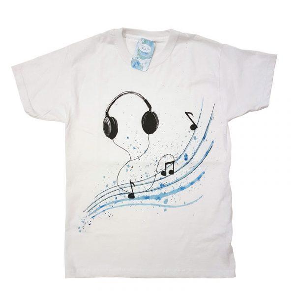 """Рисувана тениска """"Музика"""""""