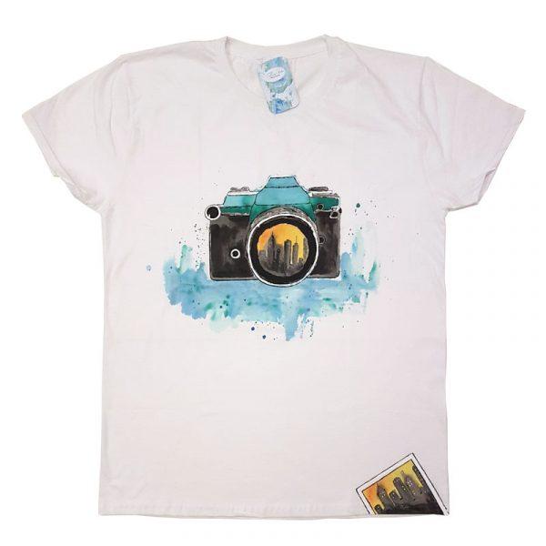 """Рисувана тениска """"Фотоапарат"""""""