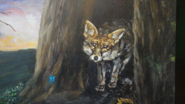 """Картина """"Лисичка"""" - маслени бои"""