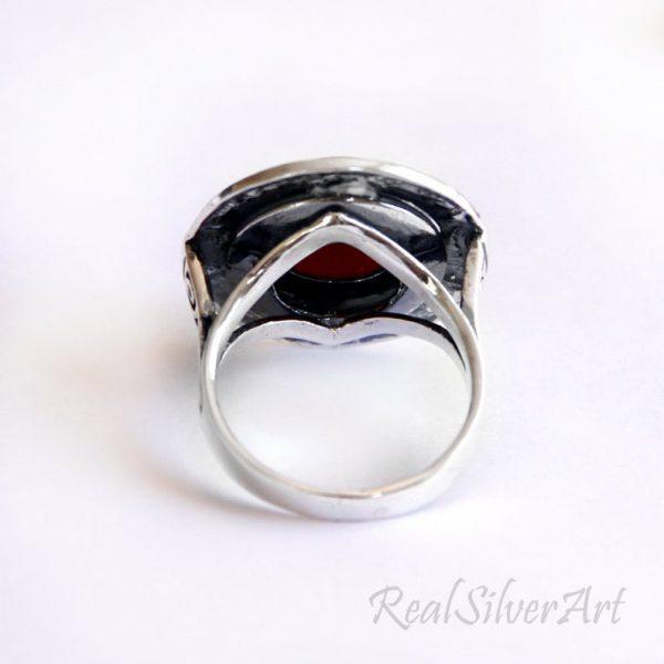 """Сребърен пръстен проба 925 с Тюркоаз, Модел """"Византия"""""""