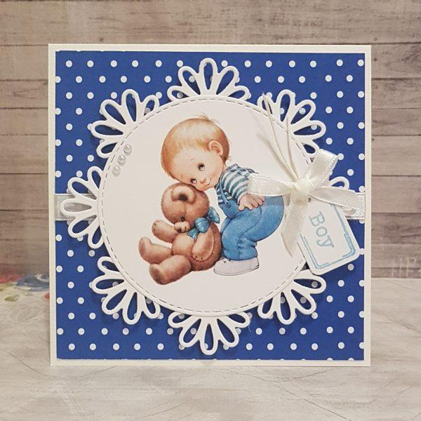"Картичка за рожден ден или друг повод ""Дантелен кръг"""