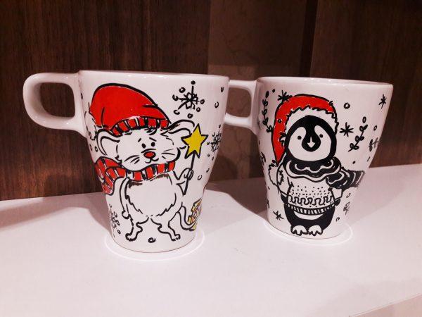 Ръчно рисувани авторски порцеланови чаши