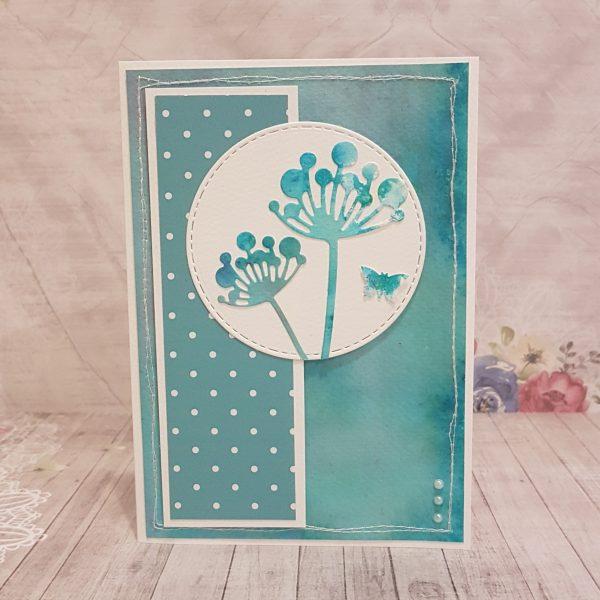 """Картичка за рожден ден или друг повод """"Аварелни глухарчета"""""""