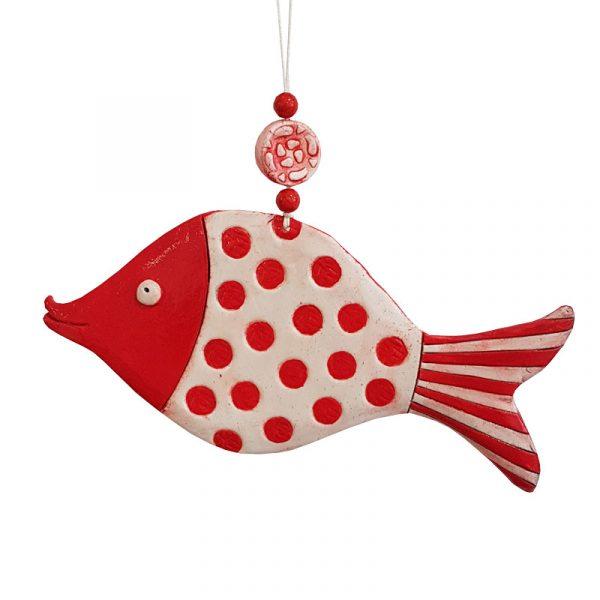 "Керамична фигура ""Риба на точки"""