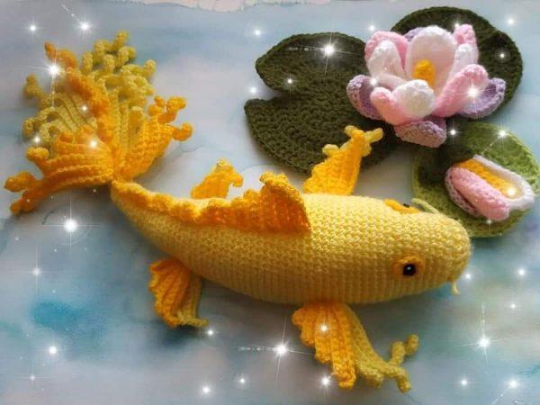 Плетена златна рибка КОИ
