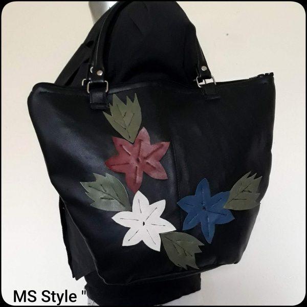Дамска чанта с цветя