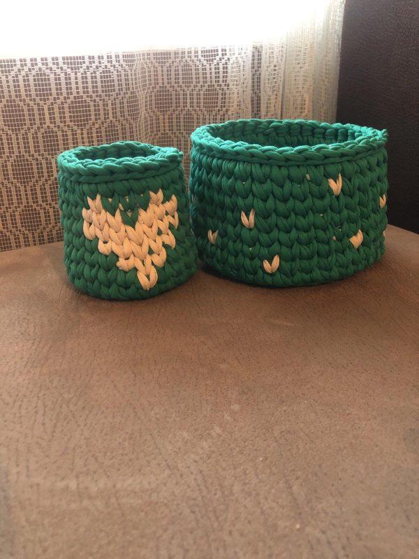Плетени панери от трикотажна прежда