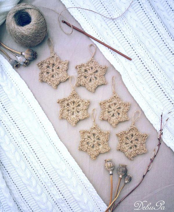 """Плетена украса """"Канелени цветя"""""""