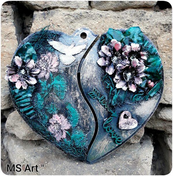 Интериорно декоративно пано сърце