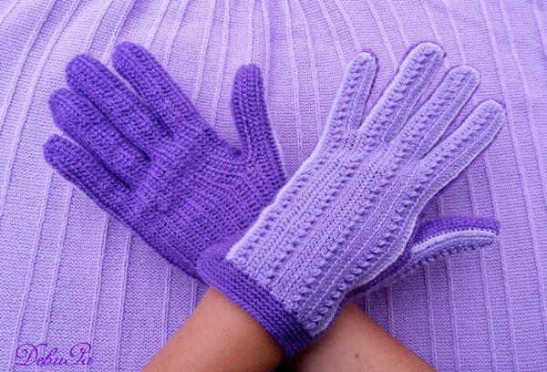 """Плетени ръкавици ,,Есен / Зима - Виолет"""""""