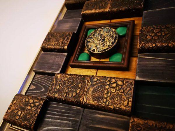 """Ръчно изработено дървено 3Д пано """"Тайната"""""""
