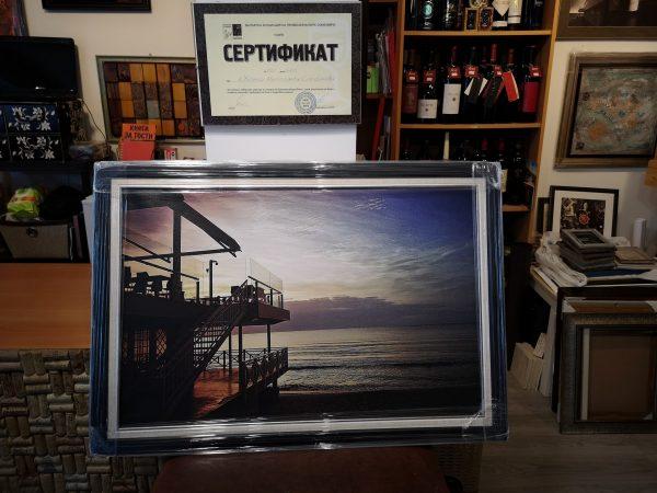 Aвторска фотография отпечатана върху канава