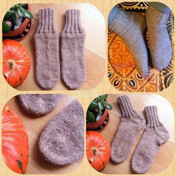 """Мъжки плетени чорапи ,,Мека топлина в бежово"""""""