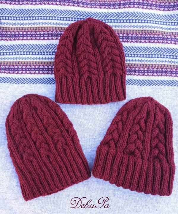 """Комплект Плетени шапки """"Семейство"""""""