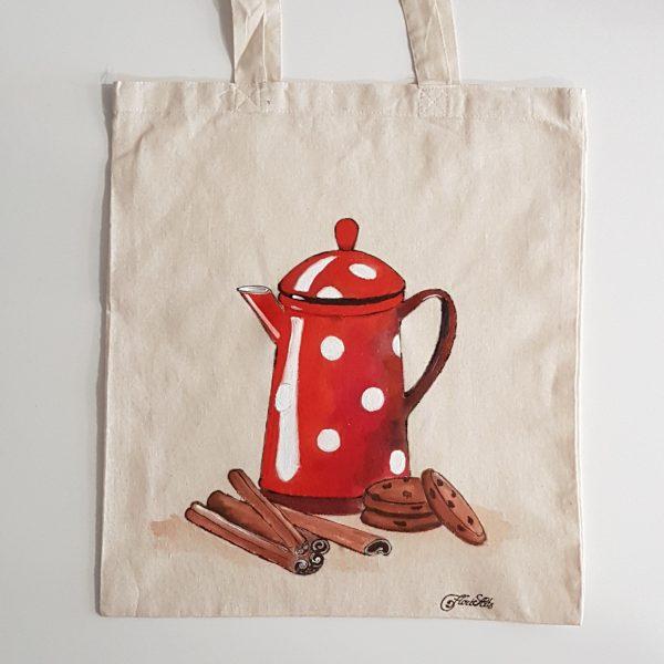 """Текстилна торбичка  """"Чайник"""""""
