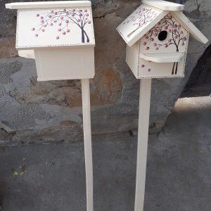 Къща за птици със стойка