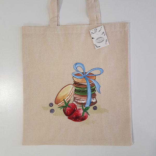 """Текстилна торбичка """"Френски макарон"""""""