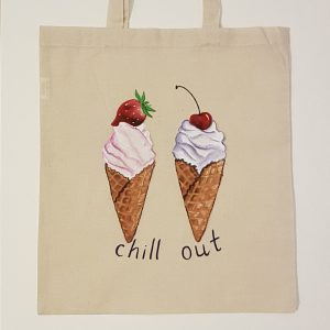 """Текстилна торбичка """"Ice Cream Chill out"""""""