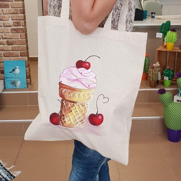 """Текстилна торбичка  """"Сладолед"""""""