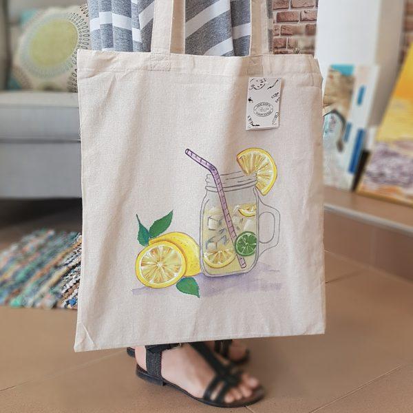 "Текстилна торбичка ""Лимонада"""