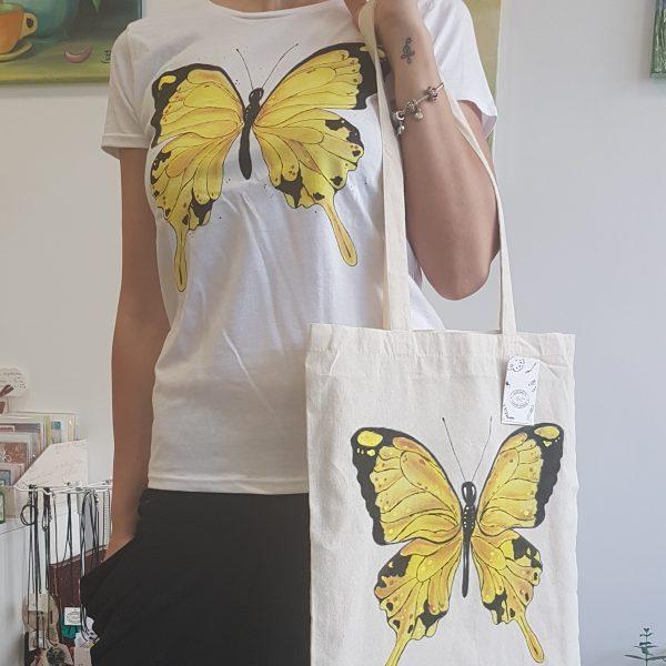 "Текстилна торбичка ""Пеперуда"""