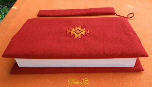 Калъф за книга с везана канатица - шевица