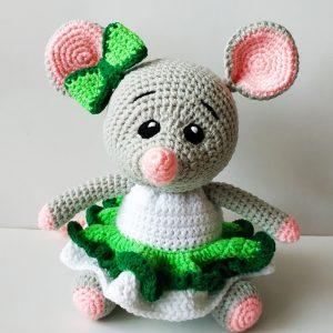 """Плетена играчка """"Мишка"""""""