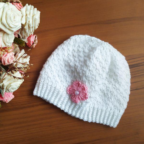 Плетена шапка 6-9 месеца
