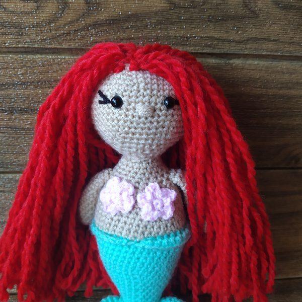 Плетена играчка русалка