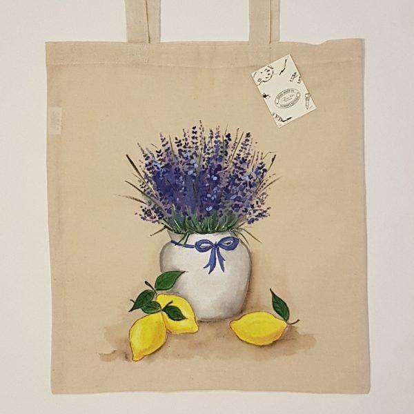 """Текстилна торбичка """"Лавандула с лимони"""""""
