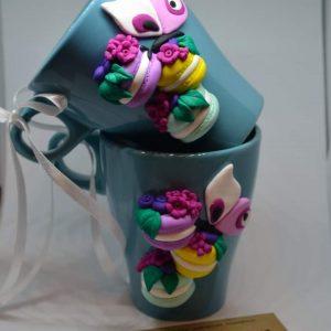Чаша с ръчна декорация от полимерна глина 250мл