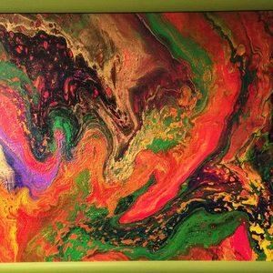 Абстракция 22 - акрил на платно с рамка