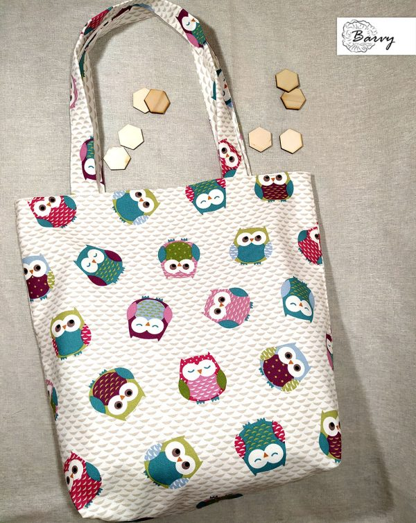 Текстилна чанта с бухалчета