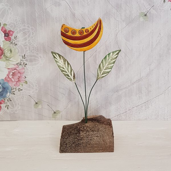 Керамично цвете с щипка 008