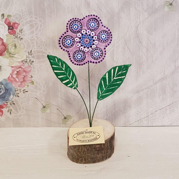 Керамично цвете с щипка 029