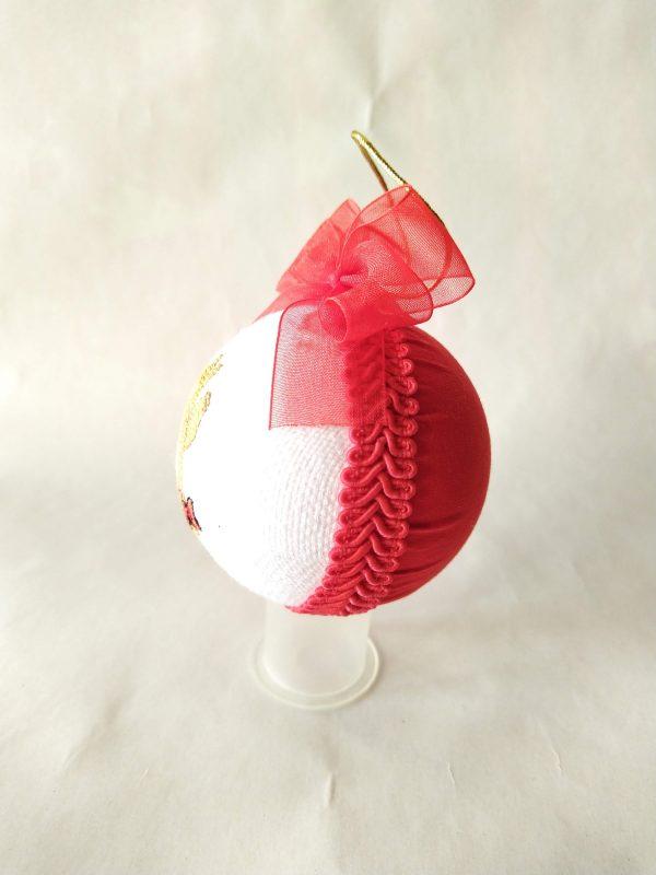 Висяща Коледна топка с бродерия