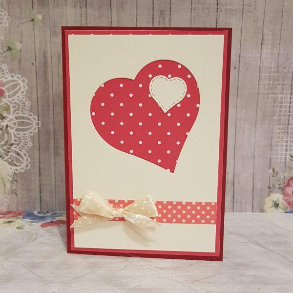 """Картичка за рожден ден или друг повод """"Сърце"""""""