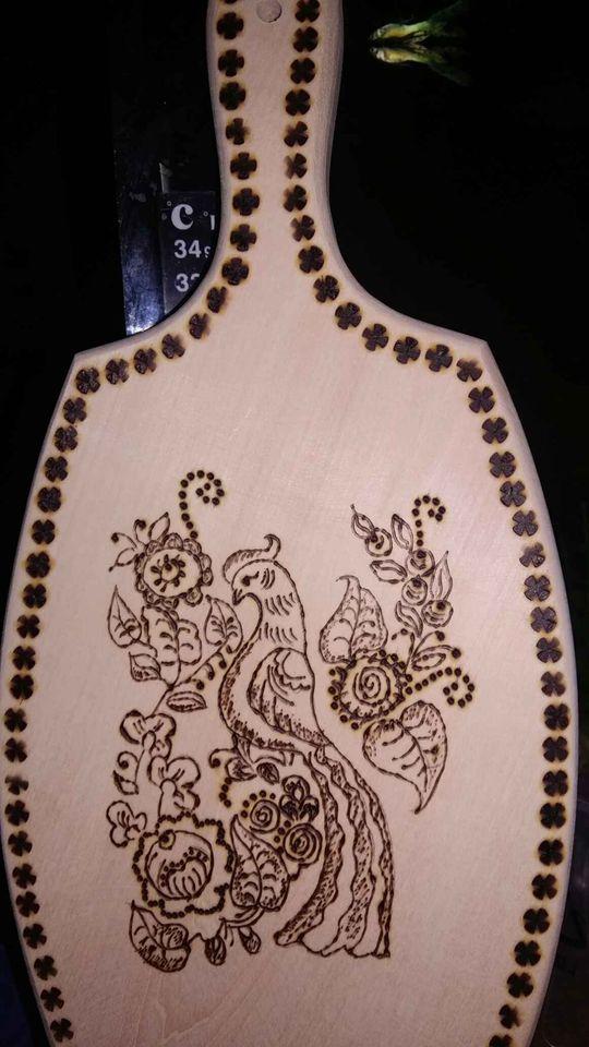 Пирография върху дъска за рязане